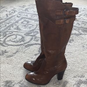 Leather Born knee high boots